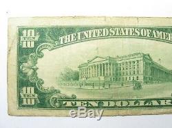 1929 Monnaie Nationale $ 10 Échange Banque Nationale Hutchinson Kansas # 5918