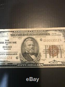 1929 Monnaie Nationale - Banque Fédérale De Réserve De Chicago