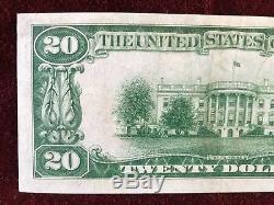 1929 Monnaie Nationale De 20 $ La Banque Fédérale De Réserve De San Francisco Ca Unc
