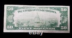 1929 Monnaie Nationale De Cinquante Dollars 5550 Banque Nationale D'honolulu À Hawaii