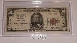 1929 Série 50 $ Dollar Bill Note Monnaie Banque Nationale De Butler Pa # F000427a