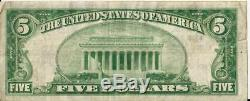 1929 Stockyards Banque De Fort Worth Texas Monnaie Nationale 5 $ Ch # 6822 Note