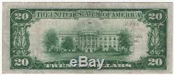 1929 T1 20 $ Premier Billet De Banque De La Banque Nationale De Denver Au Colorado, Devise Nationale Devise Ch Vf