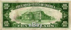 1929 Ty $ 1 10,00 Monnaie Nationale Swedesboro Banque Nationale, Nj Vf / Xf