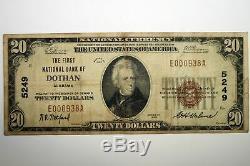 1929 Type1 Première Banque Nationale De Dothan Alabama Monnaie Nationale, Amende E000938a