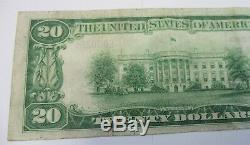 1929 Us $ Note En Monnaie Nationale Bank Of Cadiz Ohio Charter # 4853 No De Série, Bas