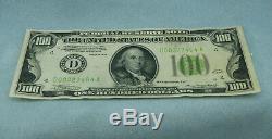 1934 Billet De 100 $ Banque Nationale Monnaie Réserve Fédérale De Cleveland