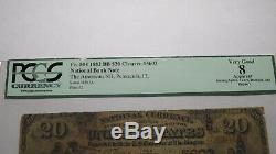 20 $ 1882 Pensacola En Floride Fl Banque Nationale Monnaie Note Bill # 5603 Brown Retour
