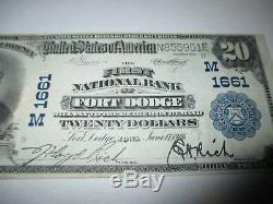 20 190 $ Fort Dodge Iowa Ia Billets De Banque De Billets De Banque Nationaux! Ch. # 1661 Vf ++