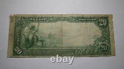 20 $ 1902 Attleboro Massachusetts Ma Banque Nationale De Devises Note Bill! Ch. #2232