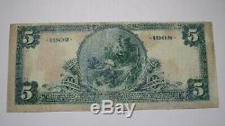 20 $ 1902 Banque Nationale Monnaie Nationale Stock Yards Illinois Bill Note! Ville