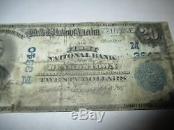 20 $ 1902 Beardstown Illinois IL Banque Nationale Monnaie Note Bill! Ch. # 3640 Rare