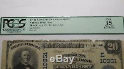 20 $ 1902 Billet De Banque En Monnaie Nationale De Frankfort New York, À New York, N ° De Facture N ° 10351, Amende De Pcgs