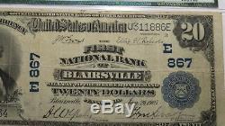 20 € 1902 Billet De Banque National De La Devise De Blairsville En Pennsylvanie, Pa