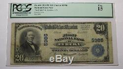 20 $ 1902 Billet De Billets De Banque En Monnaie Nationale Eureka Californie Ca! Ch. # 5986 Fin