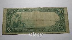 $20 1902 Burlington New Jersey Nj National Currency Bank Note Bill Ch #1222 Fine