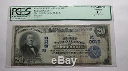 20 $ 1902 Carrier Mills Illinois IL Banque Nationale Monnaie Note Bill Ch. # 8015