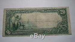 20 $ 1902 Clifton Forge Virginia Va Banque Nationale Monnaie Note Bill Ch # 6008 Vf +
