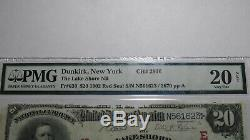 20 $ 1902 Dunkerque New York, Ny Sceau Rouge Banque Nationale Monnaie Note Bill! Ch # 2916