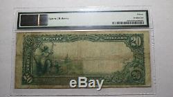 20 $ 1902 Enterprise Alabama Al Banque Nationale Monnaie Note Bill! Ch. # 6319 Pmg