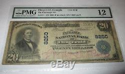 20 1902 $ Fitzgerald Georgia Ga Banque De Monnaie Nationale Note Bill Ch. # 8250 Pmg