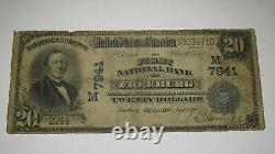 $20 1902 Freeburg Illinois IL National Currency Bank Note Bill Ch. #7941 Rare