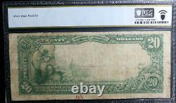20 $ 1902 Galveston Texas Tx Monnaie Nationale Note De Banque Ch #12475 Pcgs 12 Fine