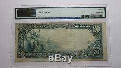 20 $ 1902 Gardena Californie Ca Banque Nationale Monnaie Note Bill Ch. # 10453 Vf20