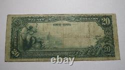 $20 1902 Helena Montana Mt National Currency Bank Note Bill! Ch. #4396 Fine+