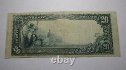 20 $ 1902 Inwood Iowa Ia National Currency Bank Bill! Charte #7304 Fine++