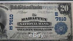 20 $ 1902 Mahaffey Pennsylvania Pa Banque Nationale Monnaie Note Bill Ch # 7610 Vf30