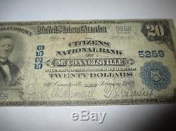 20 $ 1902 Mcconnelsville Ohio Oh Billet De Banque! Ch # 5259 Rare