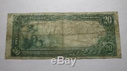20 $ 1902 Morris Illinois IL Banque Nationale Monnaie Note Bill! Ch. # 8163 Rare