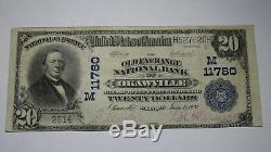20 $ 1902 Okawville Illinois IL Billets De Banque En Billets De Banque Nationaux Bill Ch. # 11780 Vf
