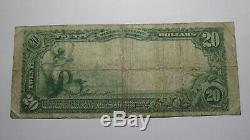 20 $ 1902 Pikeville Kentucky Ky Banque Nationale Monnaie Note Bill! Ch # 6622 Fin
