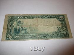 $ 20 1902 Wilkinsburg Pennsylvanie Pa Note De La Banque Nationale De Billets De Billets Bill! Ch. # 5265