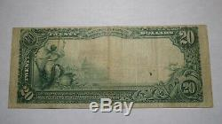 20 $ 1902 Woodlawn Pennsylvania Pa Banque Nationale Monnaie Note Bill! Ch # 10951 Vf
