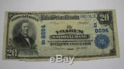 20 $ 1902 Yoakum Texas Tx Banque Nationale Monnaie Note Bill Ch. # 8694 Rare