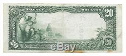 20 $. 1905 Newport Delaware Banque Nationale Monnaie Remarque Bill Ch # 997 Grand Format