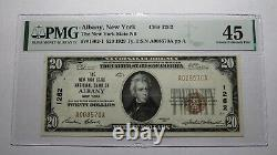 $20 1929 Albany New York Ny Monnaie Nationale Banque Note Bill! Ch #1262 Xf45 Pmg