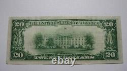 $20 1929 Ashland Pennsylvania Pa National Currency Bank Note Bill! Ch #5615 Xf++