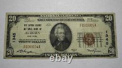 $20 1929 Auburn New York Ny National Currency Bank Note Bill Charter #1345 Vf