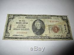$ 20 1929 Avoca Pennsylvanie Pa Note De La Banque Nationale De Billets De Billets! # 8494 Fine Rare