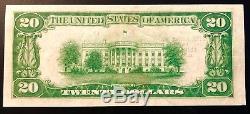 20 $ 1929 Banque De Réserve Fédérale De La Monnaie Nationale De Chicago