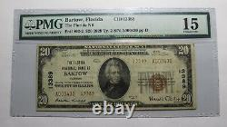 20 1929 Bartow Floride Fl Monnaie Nationale Banque Note Bill Ch. #13389 F15 Pmg