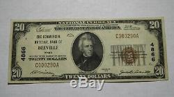 20 $ 1929 Beeville Texas Tx Banque Nationale Monnaie Note Bill Charte # 4866 Vf +