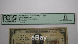 20 $ 1929 Billet De Banque En Monnaie Nationale Clearwater En Floride, Floride, Bill Ch. # 12905 Fin