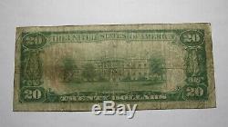 20 $ 1929 Billet De Banque En Monnaie Nationale Du Kansas Ks De Hillsboro Au Kansas Bill Ch. # 6120 Rare