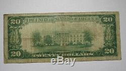 20 $ 1929 Billet De Banque National De La Devise De Spring City, Pennsylvanie, Pa # 2018