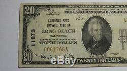 20 $ 1929 Billet De Banque National De La Devise Nationale De Long Beach, Californie, Bill Ch. # 11873